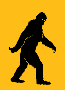 Bigfoot walking